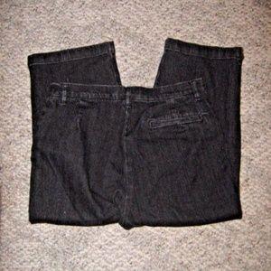Gloria Vanderbilt Black Stretch Capri Jeans 10P
